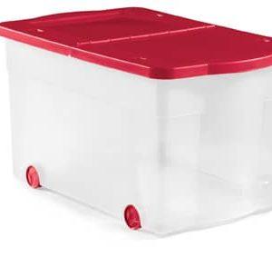 ארגז אחסון כתר פלסטיק 17307182 ארגז נע פיליפ 65 ליטר