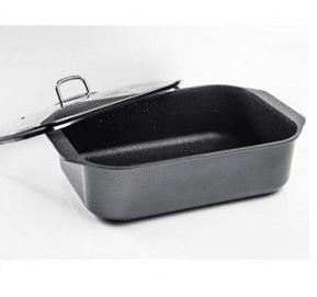 רוסטר מלבני 8 ליטר בציפוי שיש עם מכסה Arcosteel