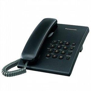 טלפון חוטי Panasonic TS-500B פנסוניק שחור