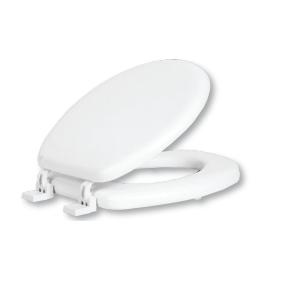 מושב אסלה מרופד חלק צבע לבן SPLASH
