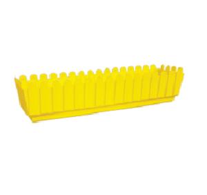 """אדנית גדר 70 ס""""מ צהוב"""