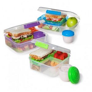 קופסת אוכל כולל מיכל לתוספות 1.65 ליטר מבית SISTEMA