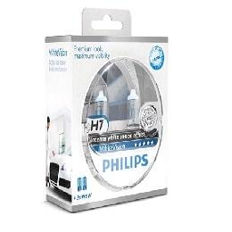 זוג נורות PHILIPS H7 WHITEVISION