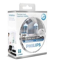 זוג נורות PHILIPS H4 WHITEVISION
