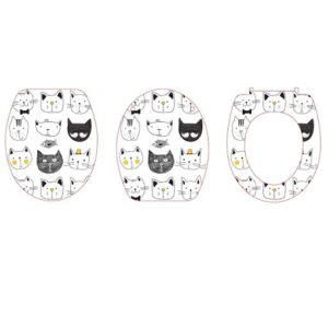 מושב אסלה הידראולי מודפס חתולים