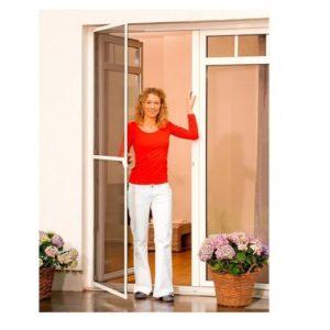 דלת + רשת להתקנה עצמית מבית TESA - חום כהה