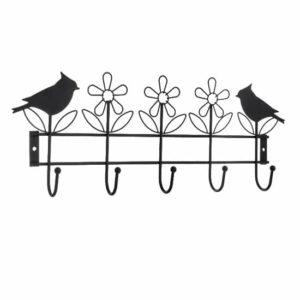 קולב מתכת ציפורים - 5 ווים