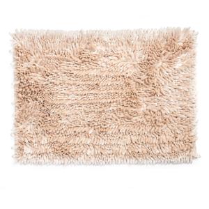 שטיח שאגי לאמבטיה פנינה מבריק 60*40 - צבע בז'