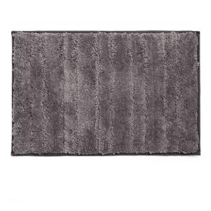 שטיח לאמבטיה מיקרופייבר פסים אפור 60*40