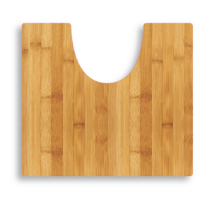 שטיח שירותים דגם דמוי עץ SPLASH