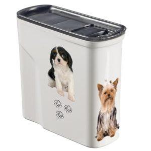 קופסאת אחסון מזון יבש לחיות מחמד - 2 כלבים