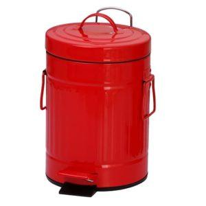 פח אשפה רטרו 3 ליטר צבע אדום מבית SPLASH