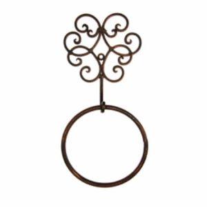 טבעת למגבת וינטאג' מסולסל - ברונזה