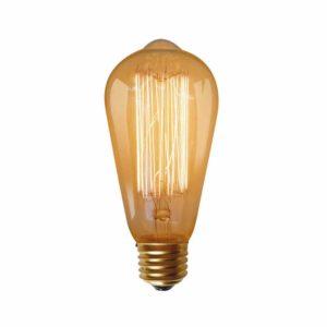 נורת פחם אגס 60W E27 תאורת אווירה חמה