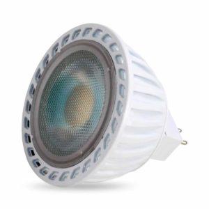 נורת דקרוייקה לד לבנה GU5.3 6W אור קר 60°