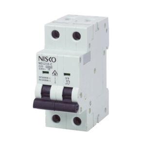 מפסק אוטומטי זעיר תעשייתי 10KA אופיין C דו-פאזי NO1210-C 2P 10A