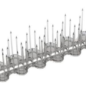 אנקור - מרחיק יונים אקרילי שקוף 1.20 מט