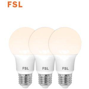 לד 10W  A60 לבן חם מארז שלישיה FSL E27
