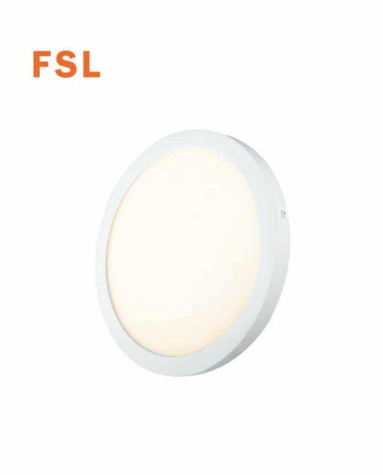 פנל על הטייח עגול 12 וואט קוטר 170 לבן אור חם FS