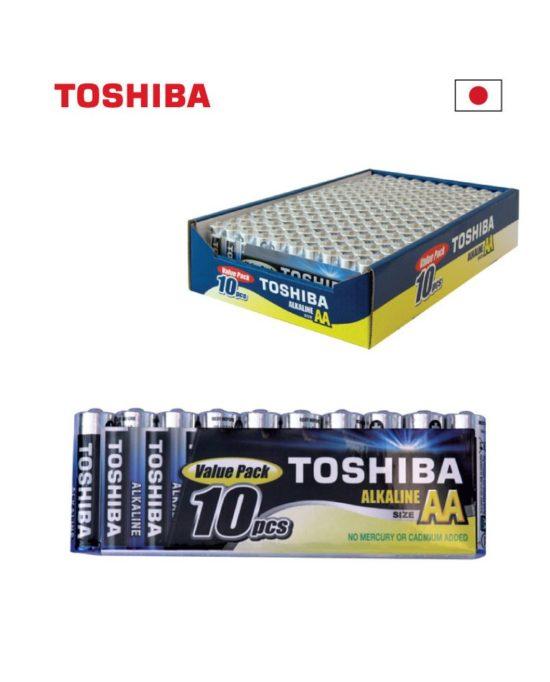 AA LR06 TOSHIBAאלקליין אריזת  10 יחידות במגש
