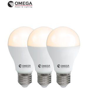 לד 15W  A60 לבן אור חם מארז שלישיה OMEGA E27