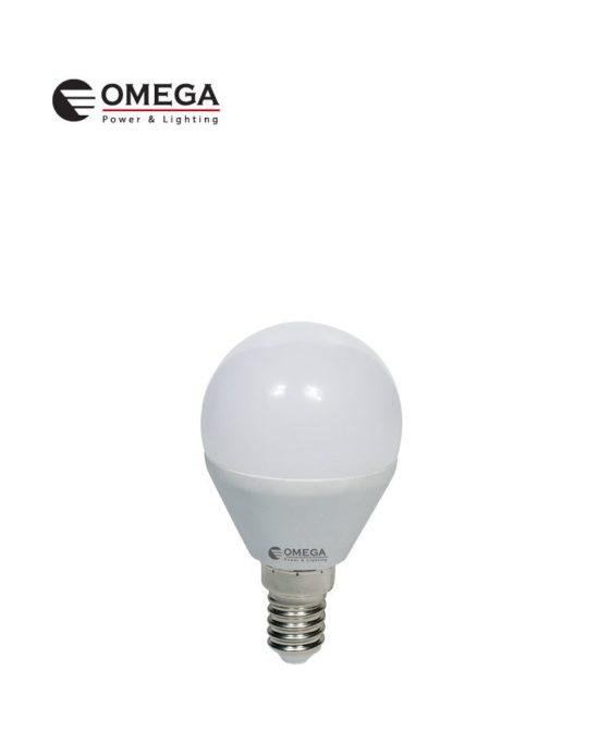 לד כדור 5W G45  אור יום  OMEGA E14