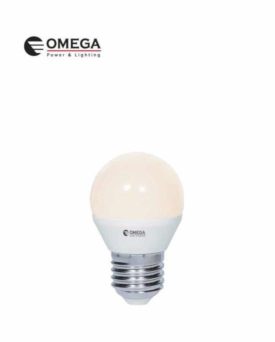 לד כדור 7W G45  אור חם  OMEGA E27