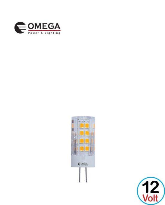 לד G4 5W מגדל OMEGA 6500K AC/DC 12V