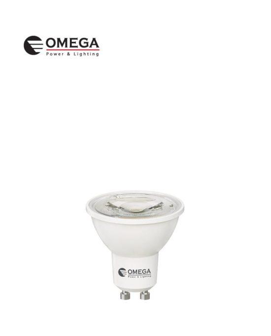 לד קוב 7W GU10  לבן אור יום   OMEGA