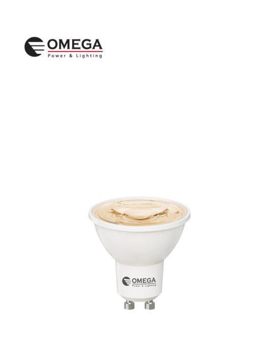לד קוב 8W GU10  לבן חם  OMEGA