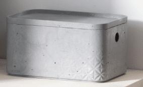 קופסה דמוי בטון כתר 3 ליטר במגוון צבעים