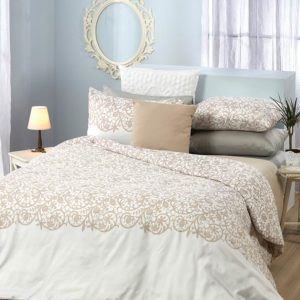 סט מצעים מודפס 100% פוליאסטר (מיקרופייבר) מסדרת ריביירה - דגם טומי סט מיטה וחצי 120x200