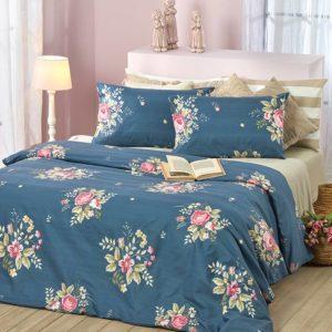 סט מצעים מסדרת קנדי 100% כותנה - דגם כליל מיטה וחצי 120x200