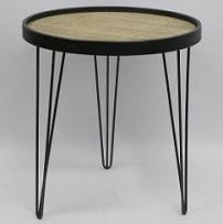 שולחן צד עגול בינוני 48.5x48.5x52 ס''מ