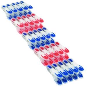 סט 25 אטבי כביסה איכותיים אדום וכחול