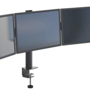 זרוע ברקן נצמדת לשולחן לשלושה מסכים Barkan M153 Triple Screen