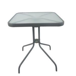 שולחן זכוכית מרובע 80*80