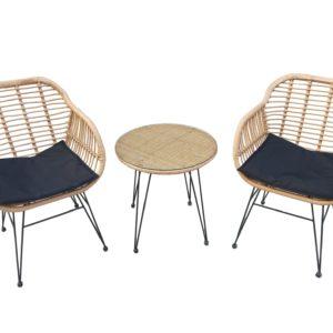 פינת קפה לואיס שולחן+ 2 כסאות