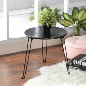 שולחן צד מעוגל שחור