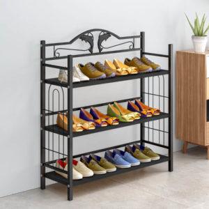 מעמד לנעליים 3 שלבים בצבע שחור