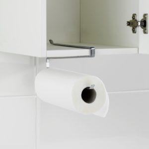 מתקן לתליה על מדף למגבת נייר למטבח מכרום
