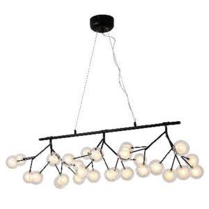 גוף תאורה וינטג מולקולה תליה על פס LED 27*2W