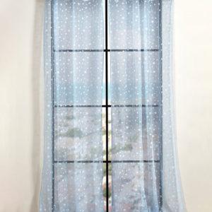 וילון דגם סטארס וילון ארוך 140/250 כחול