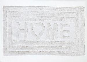 שטיחון אמבט 100% כותנה- דגם הום מגבת רצפה לבן