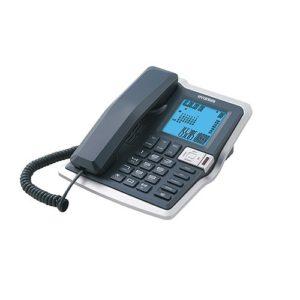 טלפון שולחני Hyundai HDT2700 יונדאי שחור כסוף