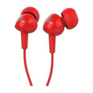 אוזניות In-ear עם מיקרופון JBL C100SI -אדום