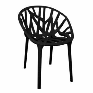 כסא נטוראלסה פלסטיק במגוון צבעים - שחור