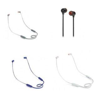 אוזניות אלחוטיות JBL T110BT במגוון צבעים