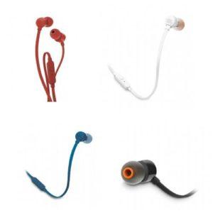 אוזניות IN EAR עם מיקרופון JBL T110 - במגוון צבעים