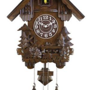 שעון קוקיה גדול וקלאסי מעץ מלא